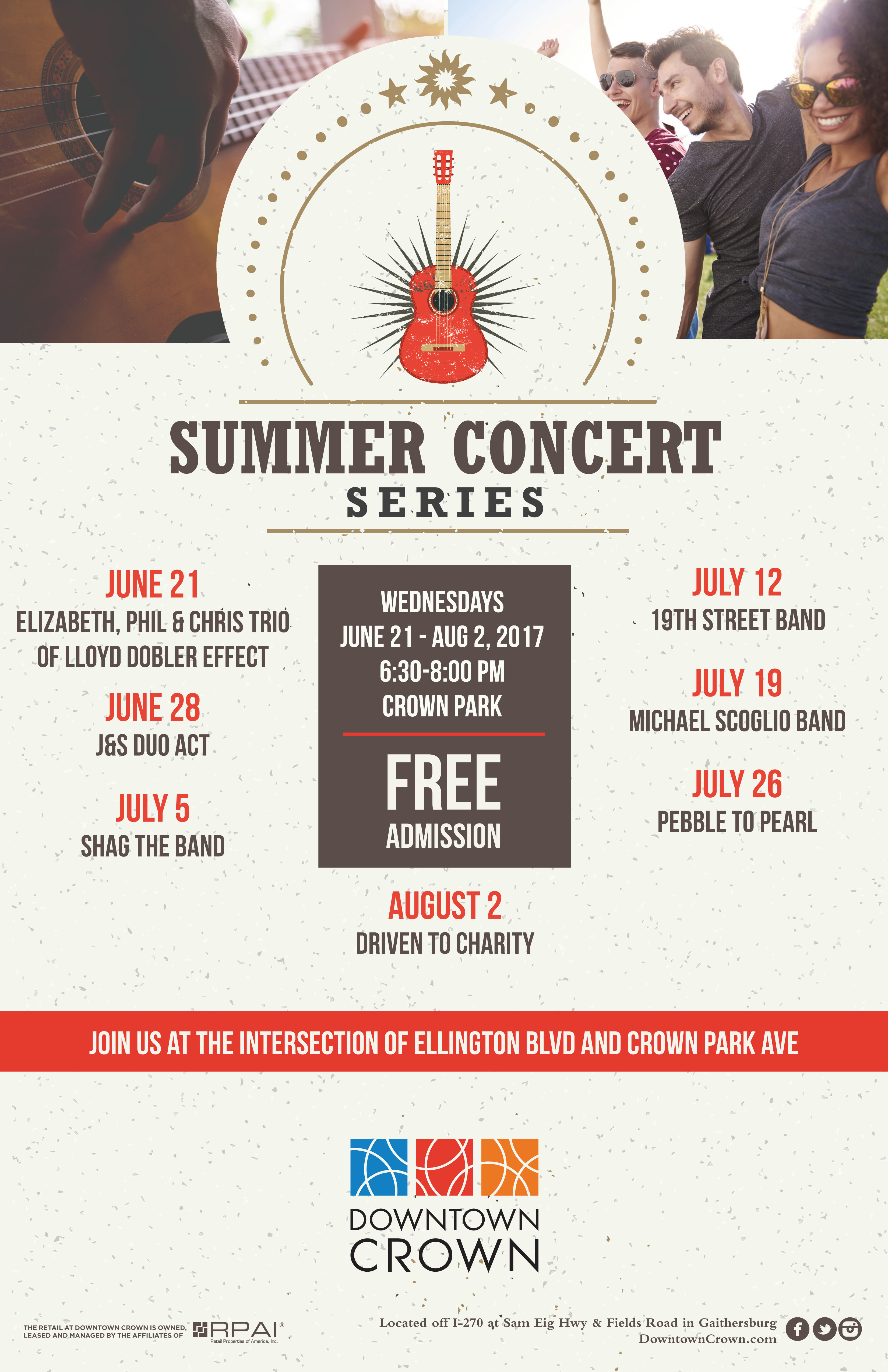2017 Downtown Crown Summer Concert Series