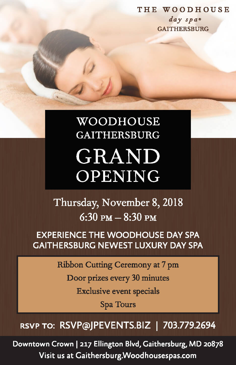 WOODHOUSE DAY SPA GRAND OPENING